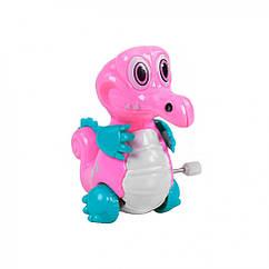 """Заводная игрушка """"Динозаврик"""" 908 (Розовый)"""