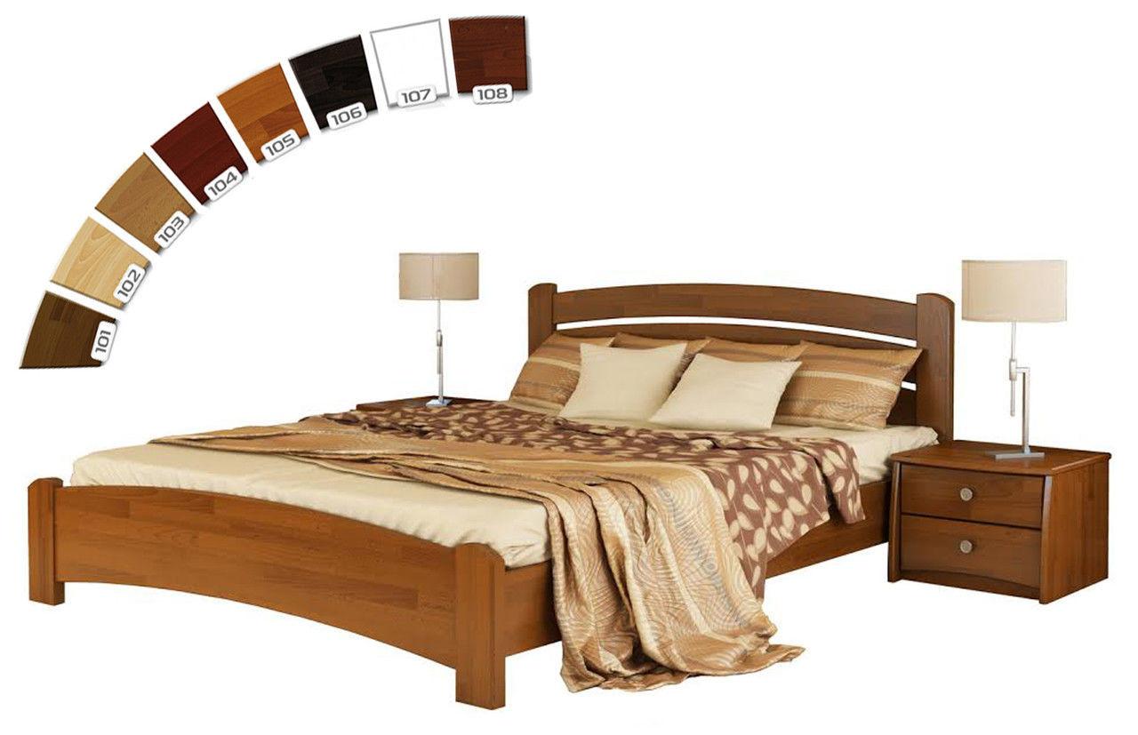 Ліжко півтораспальне в спальню, дитячу з натуральної деревини буку Венеція Люкс Естелла