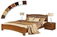 Ліжко односпальне в спальню, дитячу з натуральної деревини буку Венеція Люкс Естелла , фото 1