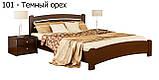Ліжко односпальне в спальню, дитячу з натуральної деревини буку Венеція Люкс Естелла , фото 3