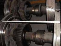 Колесные пары шахтного электровоза К14