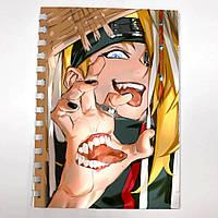 Блокнот СкетчБук аниме Наруто для рисования (sk0036)