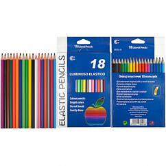 "Карандаши 18 цветов CR755-18 Luminoso elastico ""С"""