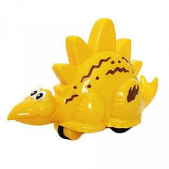 Заводная игрушка Динозавр 9829  9 см (Жёлтый)