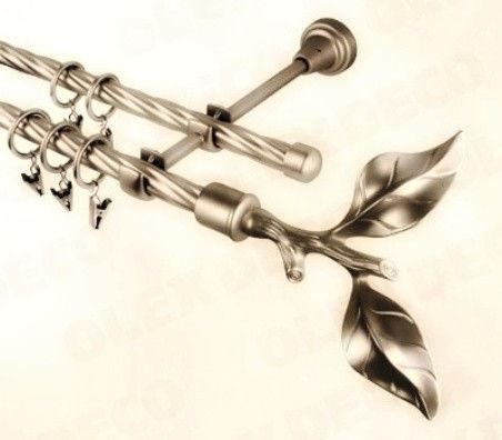 Наконечник  Лист розы 19 мм антик, золото, черное серебро, белое золото, серебро, хром