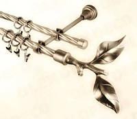 Наконечник  Лист розы 19 мм антик, золото, черное серебро, белое золото, серебро, хром, фото 1