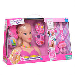 """Лялька B369 """"Голова для причесеок"""" (Рожевий)"""