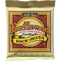 Струны Ernie Ball 2008 Earthwood Bronze Alloy Rock n Blues 10-52