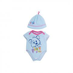 Кукольный наряд BLC17-21-03-09 (Голубое боди)