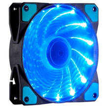 Вентилятор 120*120*25мм 3pin+molex Cooling Baby 12025BBL BB 15 LED зелен. подсв чорний з зеленим новий