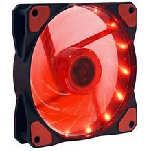 Вентилятор 120*120*25мм 3pin+molex Cooling Baby 12025BRL BB 15 червона LED підсвітка чорний з червоним новий