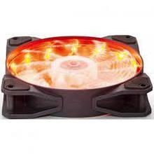Вентилятор 120*120*25мм 3pin+molex Frime Iris FLF-HB120O15 15 LED помаранчева підсвічування чорний з прозорою