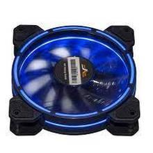 Вентилятор 120*120*25мм 3pin+molex Frime Iris FLF-HB120TRB16 синя подсв. черн. з прозр. новий