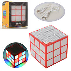 Колонка Bluetooth SB72 куб, 7см, MP3, свет, TFслот, USBзар