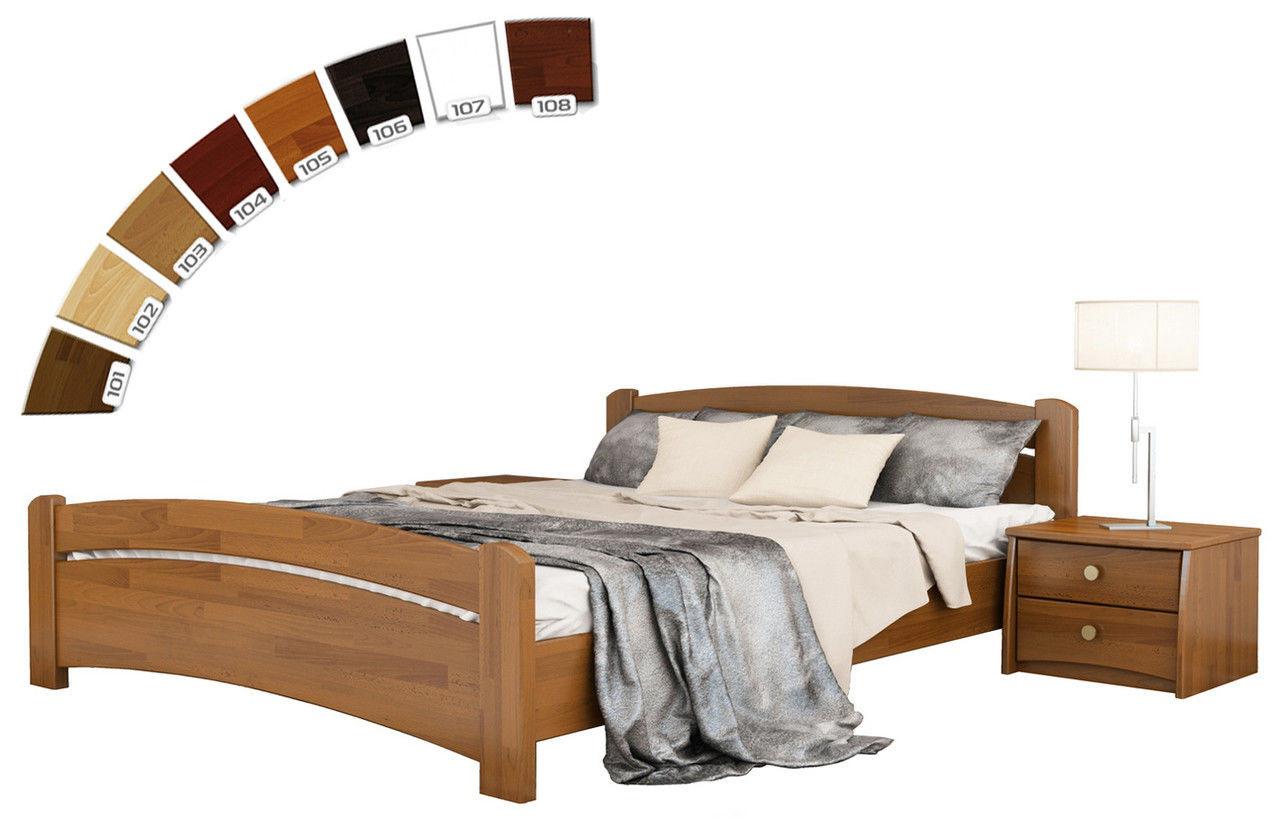 Ліжко односпальне в спальню, дитячу з натуральної деревини буку Венеція Естелла