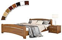 Ліжко півтораспальне в спальню, дитячу з натуральної деревини буку Венеція Естелла, фото 1