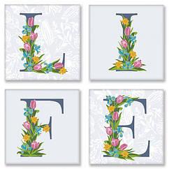 Набор для росписи по номерам Идейка LIFE прованс 18х18 см 4 шт. CH119