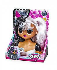 Лялька для зачісок GIRL Fashion LK1071 (Чорно-Білі волосся)