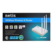Роутер NETIS WF-2409E (N300, 1xWan, 4xLan, 3 антени по 5дБи)