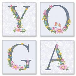 Набор для росписи по номерам Идейка YOGA прованс 18х18 см 4 шт. CH116