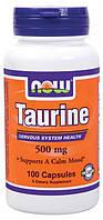 Таурин Taurine 500 mg (100 caps)