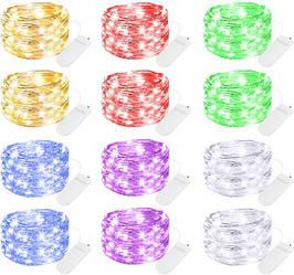 12 Светодиодных гирлянд нить LED 20 2 м Разноцветные SUN-207N ES, КОД: 2392465