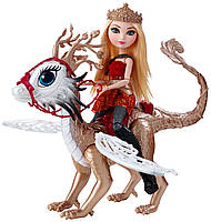 Кукла Эппл Уайт и дракон Брэберн (Ever After High Dragon Games Apple White Doll and Braebyrn Dragon)