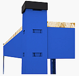 Стеллаж полочный 2000х1000х400мм, 200кг, 5 полок с ДСП крашеный для склада, дома, гаража, фото 2