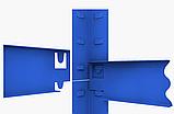 Стеллаж полочный 2000х1000х400мм, 200кг, 5 полок с ДСП крашеный для склада, дома, гаража, фото 4