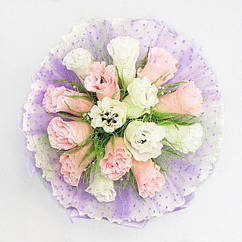 Букет Невесты из конфет 15 нежно-сиреневый 4116IT