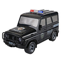 """Дитячий Сейф-скарбничка """"Машинка"""" Metr+ JH1989 з кодовим замком (Поліція чорна)"""