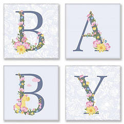 """Набор для росписи по номерам Идейка """"BABY Прованс"""" 18х18 см CH107"""