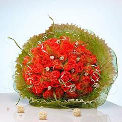 Букет из конфет Коралловая роскошь 4071IT