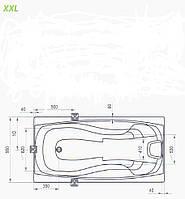 """Карниз на ванну Ravak модель """"XXL"""" из нержавеющей стали"""