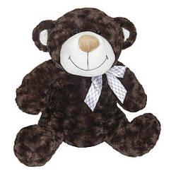 М'яка іграшка - ВЕДМІДЬ (коричневий, з бантом, 25 см)