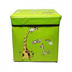 "Корзина-сундук для игрушек ""Жираф"" Metr+ BT-TB-0019 31х31х31 см (Зеленый)"