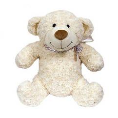 М'яка іграшка - ВЕДМІДЬ (білий з бантом, 25 см)