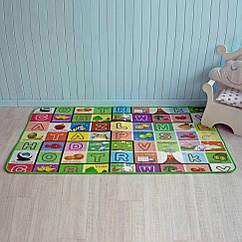 Коврик детский Футбол+Буквы Mat4baby 220PNL 1.8х1.2х0.1 двухсторонний, теплый пол