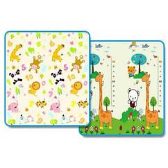 Коврик детский Зоопарк+Ростомер Mat4baby 232PNL 2.0х1.5х0.1 двухсторонний