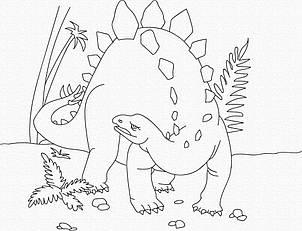 """Роспись на холсте. Art Craft """"Динозавр"""" 25х30 см 15521-AC"""