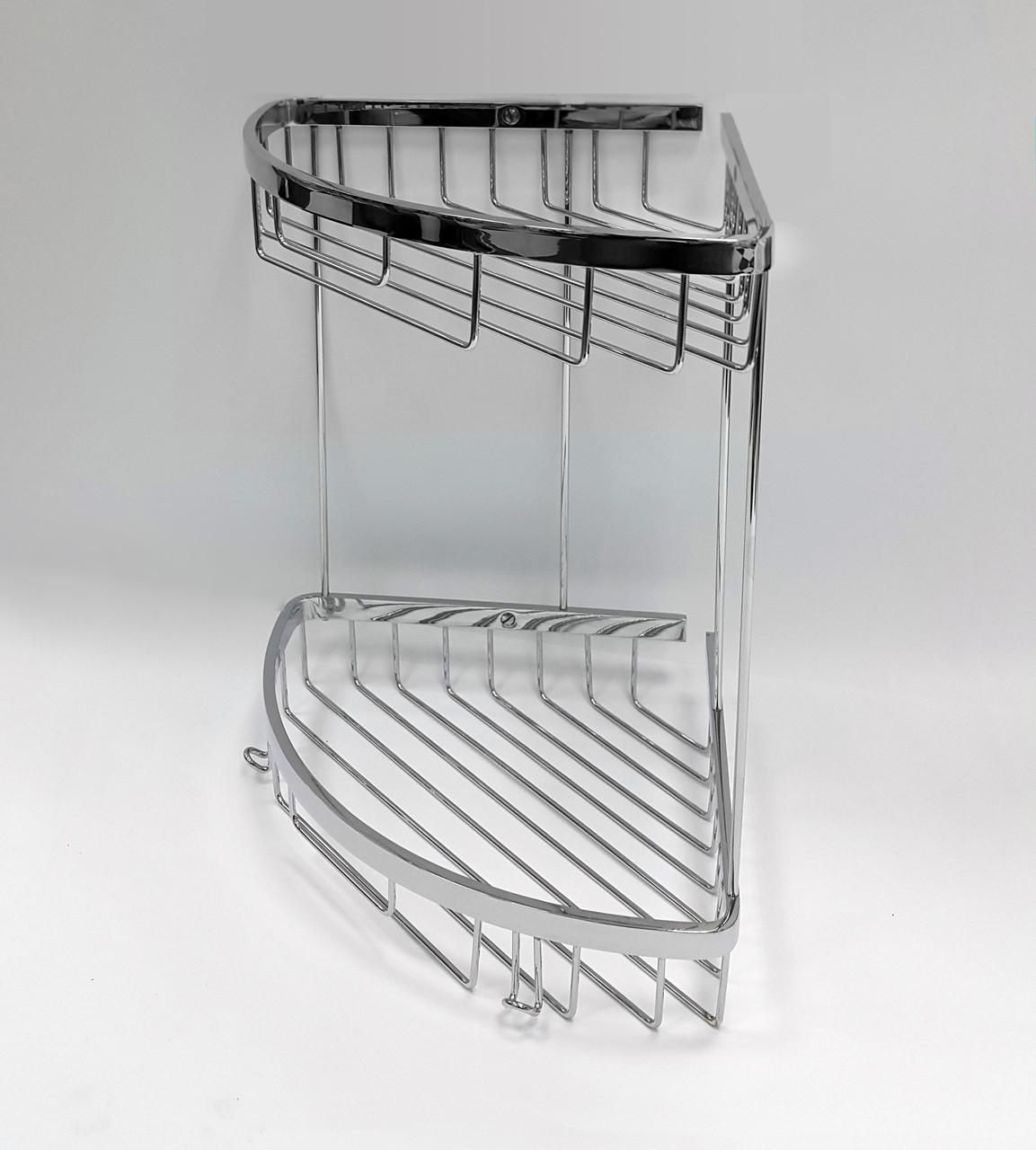 Полочка для ванной из латуни, серия Long, хром, 25112