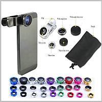 Универсальный широкоугольный макро-объектив на телефон и планшет 3 в 1 (рыбий глаз)