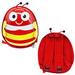 """Рюкзак дитячий """"Бджілка"""" Bambi BG8402 30х25х10 см (Червоний)"""