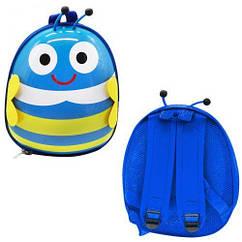 """Рюкзак дитячий """"Бджілка"""" Bambi BG8402 30х25х10 см (Синій)"""
