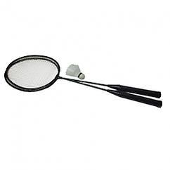 Бадмінтон Profi MS 0756 ракетки 2шт, 65 см залізний (Чорний)
