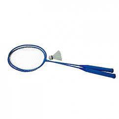 Бадмінтон Profi MS 0756 ракетки 2шт, 65 см залізний (Синій)