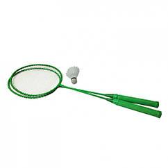 Бадмінтон Profi MS 0756 ракетки 2шт, 65 см залізний (Зелений)