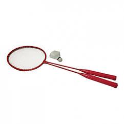 Бадмінтон Profi MS 0756 ракетки 2шт, 65 см залізний (Червоний)