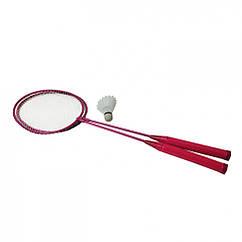 Бадмінтон Profi MS 0756 ракетки 2шт, 65 см залізний (Фіолетовий)