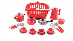 """Набір посуду """"Иришка"""" 134OR (Червоний)"""